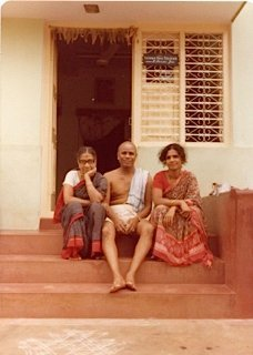 Guruji, his wife Amma, and daughter Saraswati Prem's first trip to Mysore, India 1979