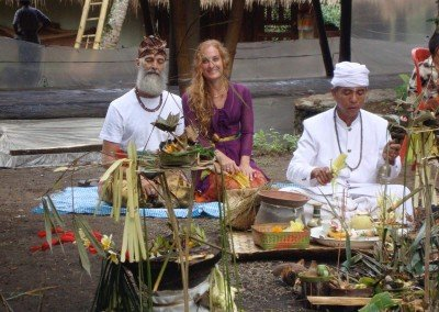 Ceremony for our new Shala in Bali