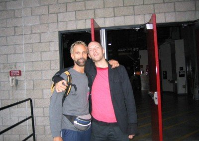 Me and Chris Martin before his concert 2005