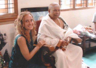 Radha with Guruji
