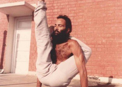 Rooftop yoga in the Punjab